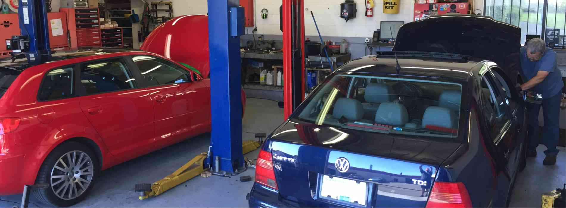 Volkswagon Jetta getting serviced at Autospeil
